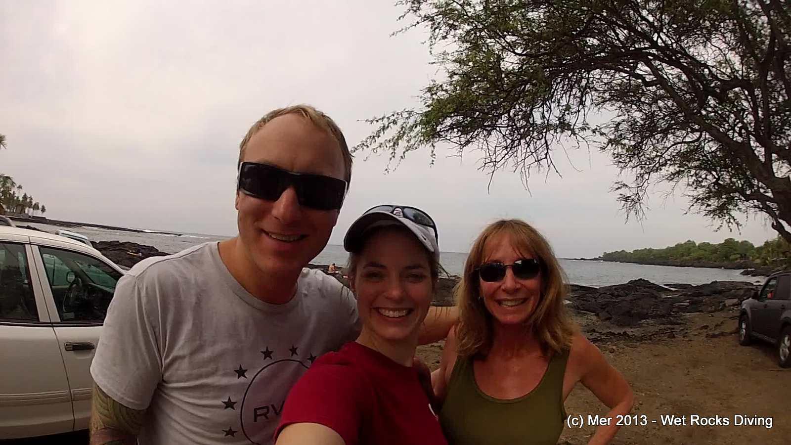 Nick, Mer, and Phyllis at Honaunau
