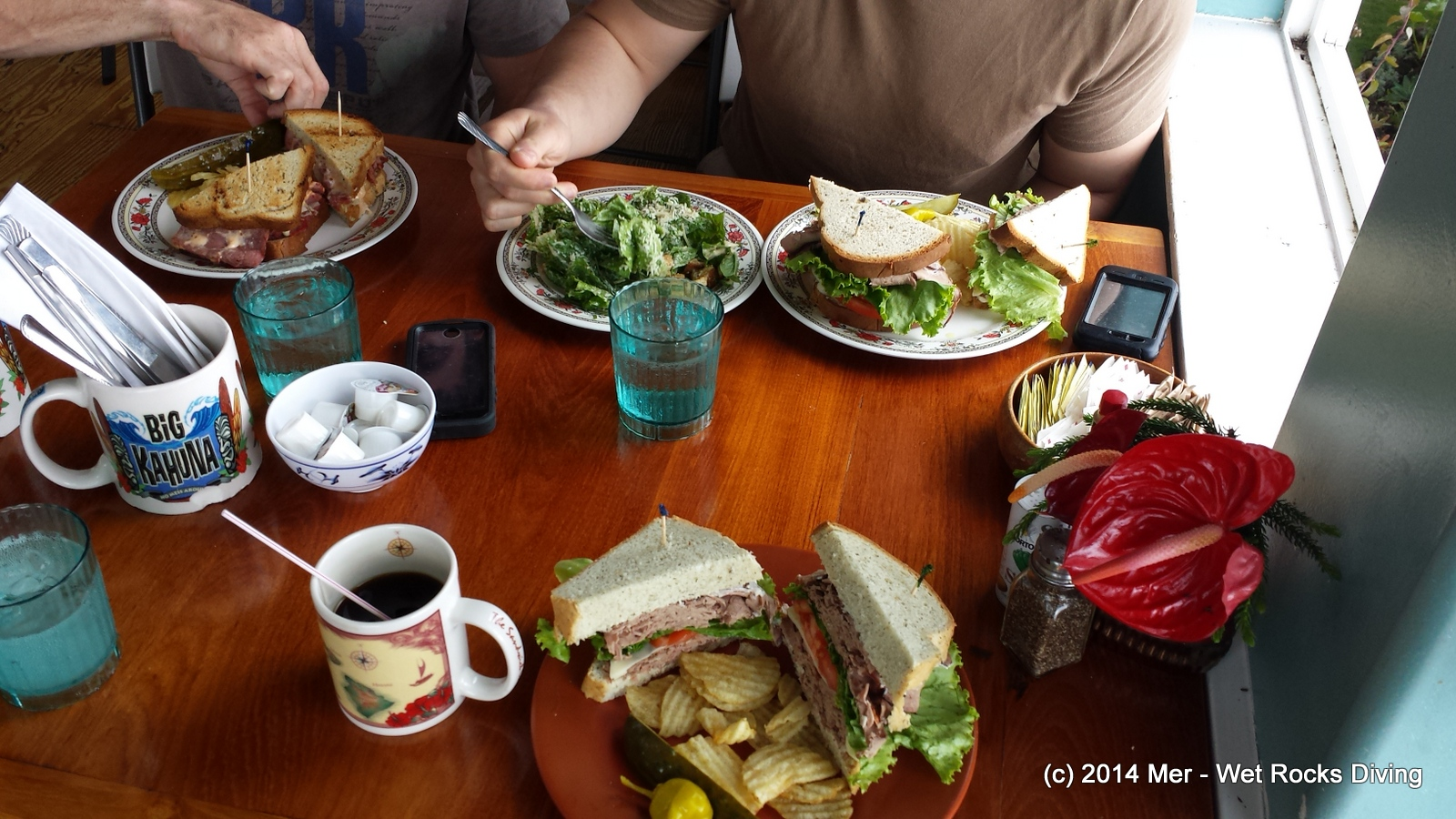 The lunch at The Coffee Shack