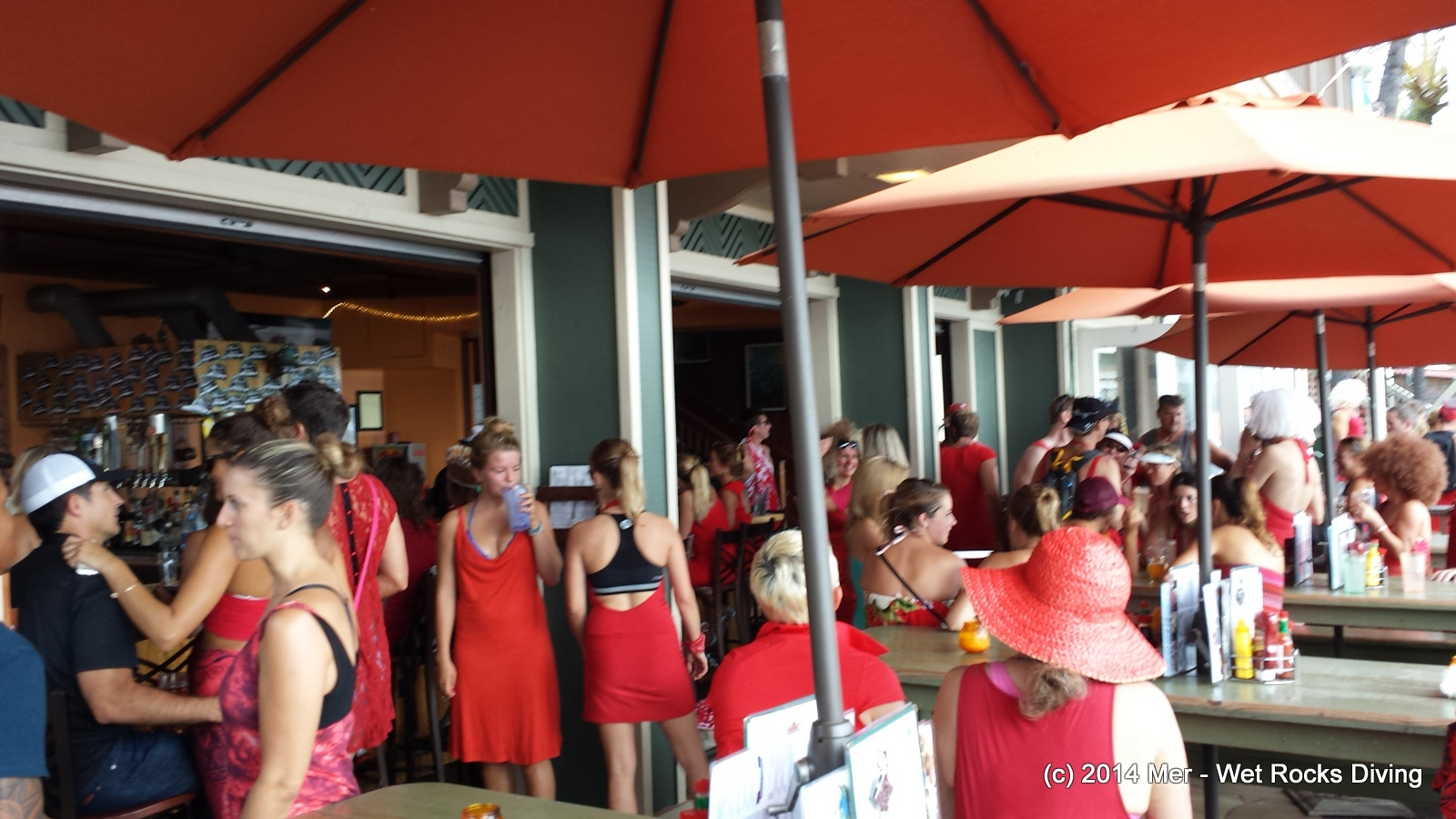 Post Class Celebration: they held a Red Dress Hash Run in our honor, or something